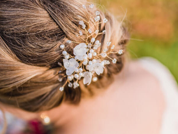 Styling examples with the wedding fascinator JOSEPHINE