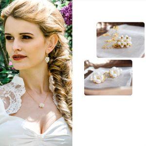 Braut Kette & Ohrringe