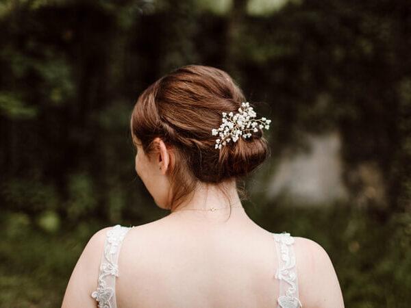 Tinas Brautstyling mit der Haarnadel CHRISTINE
