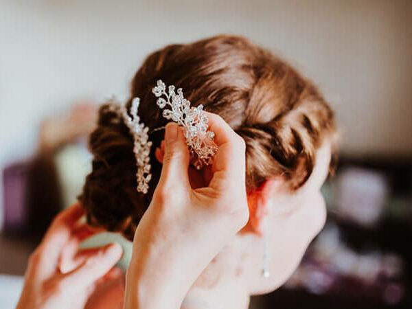 Nicoles Brautstyling mit dem Haarnadel Set NADINE