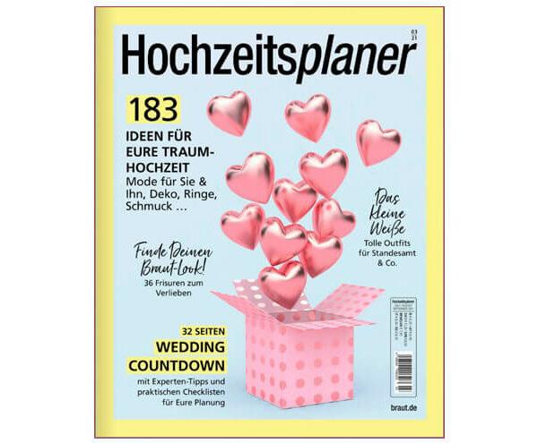 Veröffentlichung im Magazin Hochzeitsplaner 03 2021